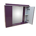 Зеркало 85см для ванной комнаты с подсветкой,розеткой и шкафчиками Norvey фиолет, фото 2