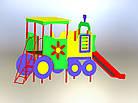 Горка  детская для улицы Паровоз, фото 3