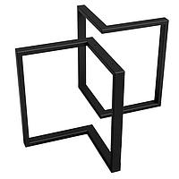 Ножка для стола журнального LF0206М из металла черного цвета высотой 460мм