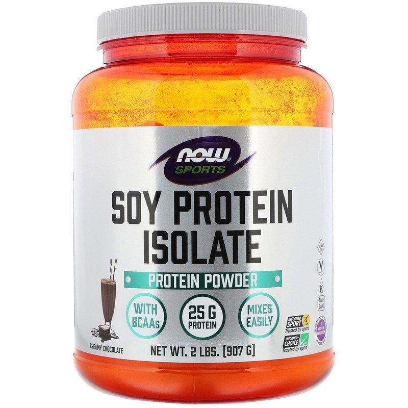 """Изолят соевого белка NOW Foods, Sports """"Soy Protein Isolate"""" вкус сливочный шоколад, в порошке (907 г)"""