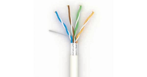Кабель витая пара Lan-кабель КГПВЭ-ВП (100) 4*2*0,51 (F/UTP-cat.5Е patch 20) (ОдесКабель)