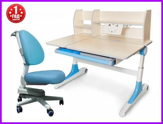 Комплект Evo-Kids парта Ontario Evo-600 WB с полкой + кресло Y-808 KBL