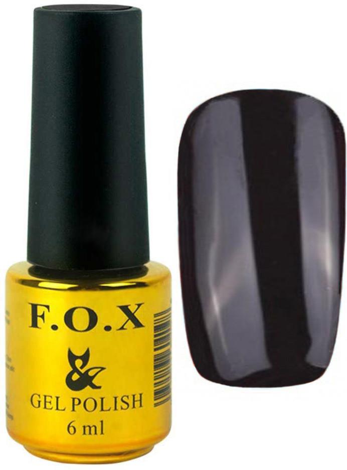 Гель-лак для ногтей FOX №002 Черный 6 мл