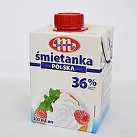 Сливки животные (сладкие) Smetanka, 36% (500 мл.)