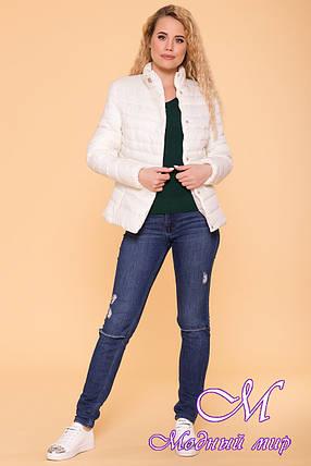 Женская светлая демисезонная куртка (р. S, M, L) арт. Лоррейн 6778 - 41905, фото 2