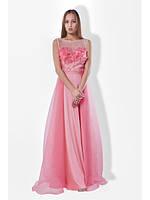 Вечернее длинное очень нежное розовое выпускное платье