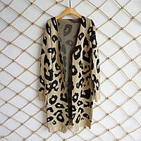 Женский длинный кардиган леопардовый, фото 1
