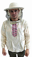 Куртка пасічника з вишивкою льон і класичною маскою