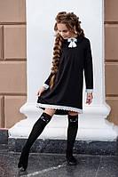 Школьное платье на девочку с кружевом  кл369, фото 1