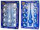 Набор елочных игрушки - шары с верхушкой, 11 шт, D6 см, серебристый, стекло (390250-1), фото 3