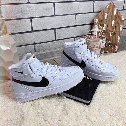 Кроссовки женские в стиле Nike Air Force белые, фото 2