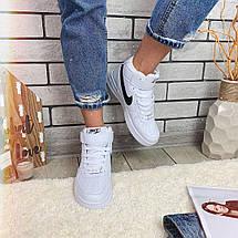 Кроссовки женские в стиле Nike Air Force белые, фото 3