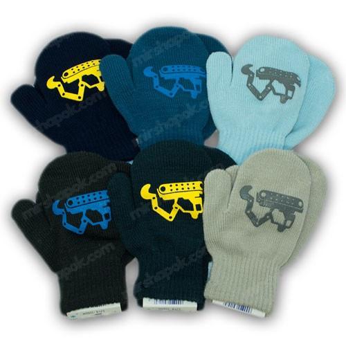 ОПТ Дитячі рукавиці для малюків, р. 14 (4-6 років), виробник Польща (12шт/набір)