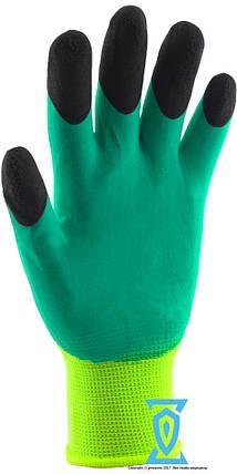Перчатки рабочие стрейчевая покрытая силиконом с двойным обливом на пальцах #777, фото 2