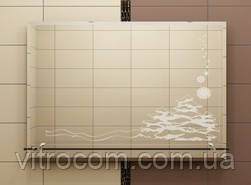 Зеркало с полкой 65х80 см