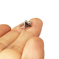 Серьга клипса Кафф имитация пирсинга (треугольник silver)