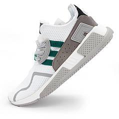 Кроссовки Adidas EQT Cushion adv белые с зеленым. Топ качество! - Реплика р.(39, 41)