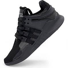 Кроссовки Adidas Equipment support (EQT) полностью черные. Топ качество! - Реплика р.(42, 43)