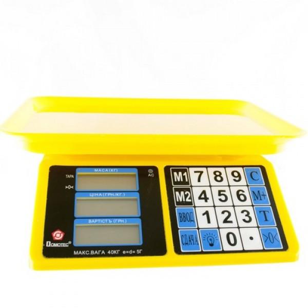 Электронные весы торговые Domotec  40 кг с аккумулятором
