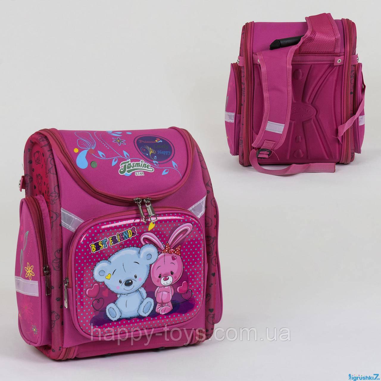 Рюкзак школьный каркасный, 1 отделение, 3 кармана, спинка ортопедическая С 36189