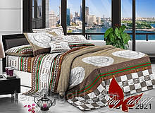 1,5-спальный комплект постельного белья ТМ TAG Полисатин PS-NZ2921