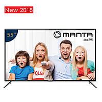 Телевизор Manta LED55LUA57L (PQV 400Гц, UltraHD 4K, Smart, Android TV 4.4, 2x10Вт, DVB-C/T2)