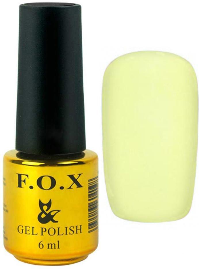 Гель-лак для ногтей FOX №204 Лимонный светлый 6 мл