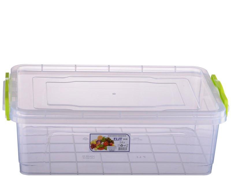 Контейнер для хранения продуктов с зажимами ELIT - 7л