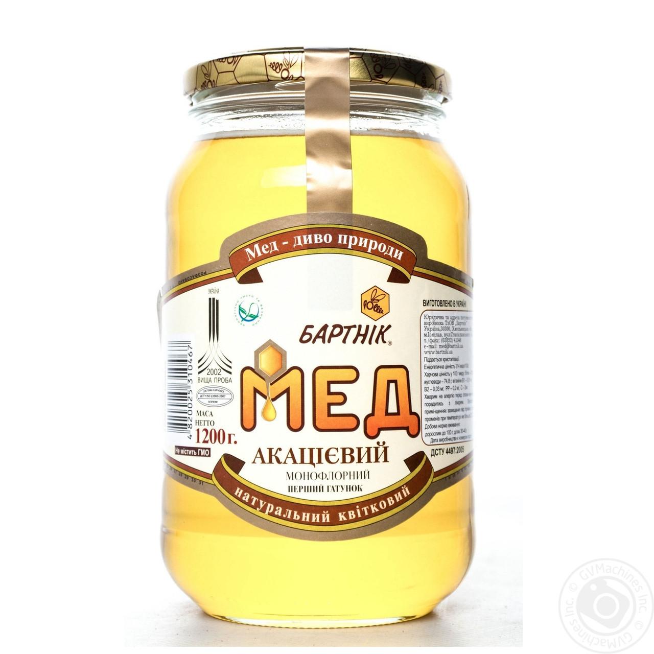 Мед бартник акациевый натуральный 1200г