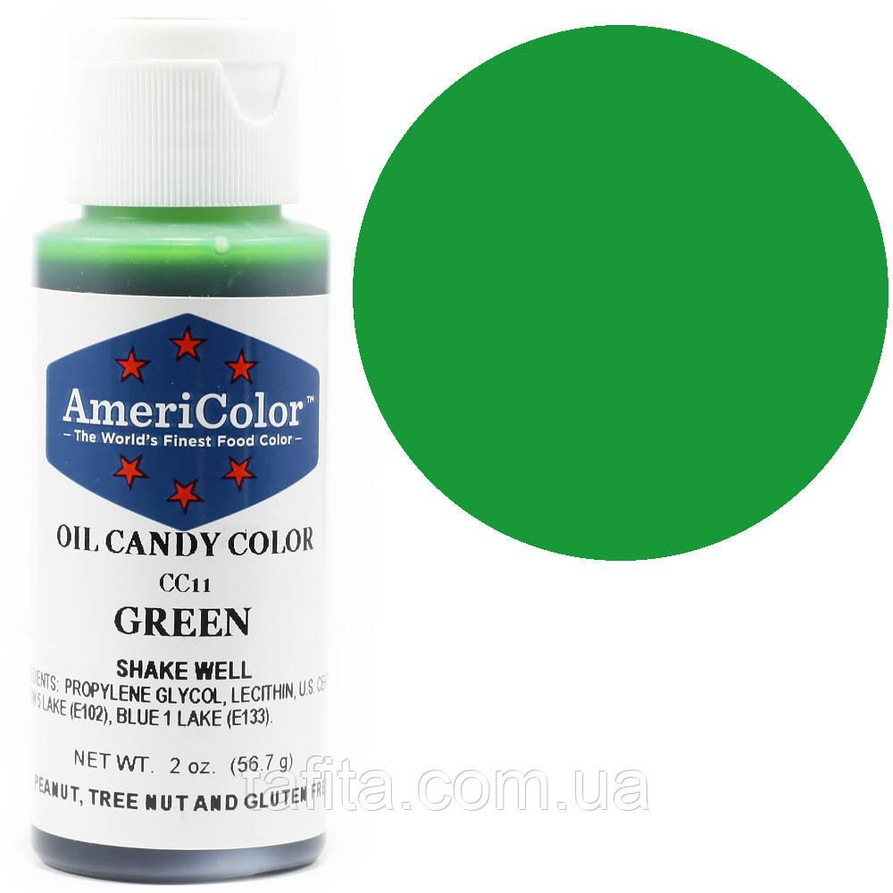 Краситель жирорастворимый Green AmeriColor  56,7 г.