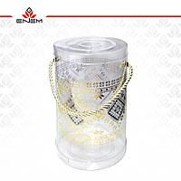 Подарункова упаковка, Вишиванка, тубус прозорий, tp3002