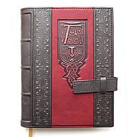 Кожаный ежедневник ручной работы формата А5, фото 1