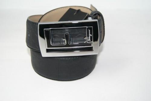 Ремень мужской кожаный универсальный (черный)