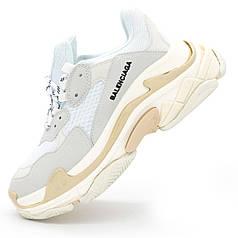 Женские серо белые кроссовки Balenciaga. Топ качество! - Реплика р.(37, 38, 39)