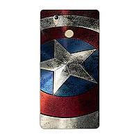 Чехол с рисунком Printed Silicone для Oukitel U7 Plus Щит Капитана Америки