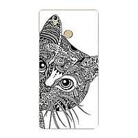 Чехол с рисунком Printed Silicone для Oukitel U7 Plus Кот