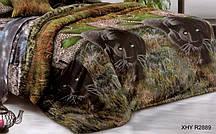 Полуторный пододеяльник из ранфорса - Пантеры в джунглях