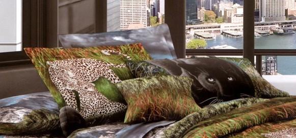 Наволочка ранфорс 70х70 - Пантеры в джунглях