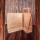 Бумажные крафт пакеты с крученой ручкой, фото 4