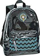 Рюкзак молодежный Оксфорд (Oxford) черно-голубой 552366/ ХО89