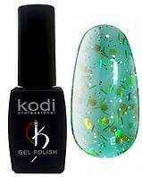 """Гель-лак для ногтей Kodi Professional """"Aquamarine"""" №AQ015 Бирюзовый с глиттером 8 мл"""