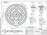 Корпус датчика катушки металлоискателя диаметром 280 мм., фото 4