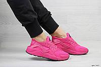 Женские кроссовки Nike Huarache, малиновые.