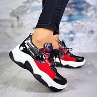 Женские кроссовки комбинированого цвета, эко кожа+обувной текстиль 36 ПОСЛЕДНИЙ РАЗМЕР