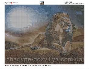 """Набор алмазной вышивки (мозаики) """"Лев. Грациозность и мощь"""", фото 2"""