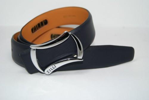 Ремень мужской кожаный универсальный (синий)