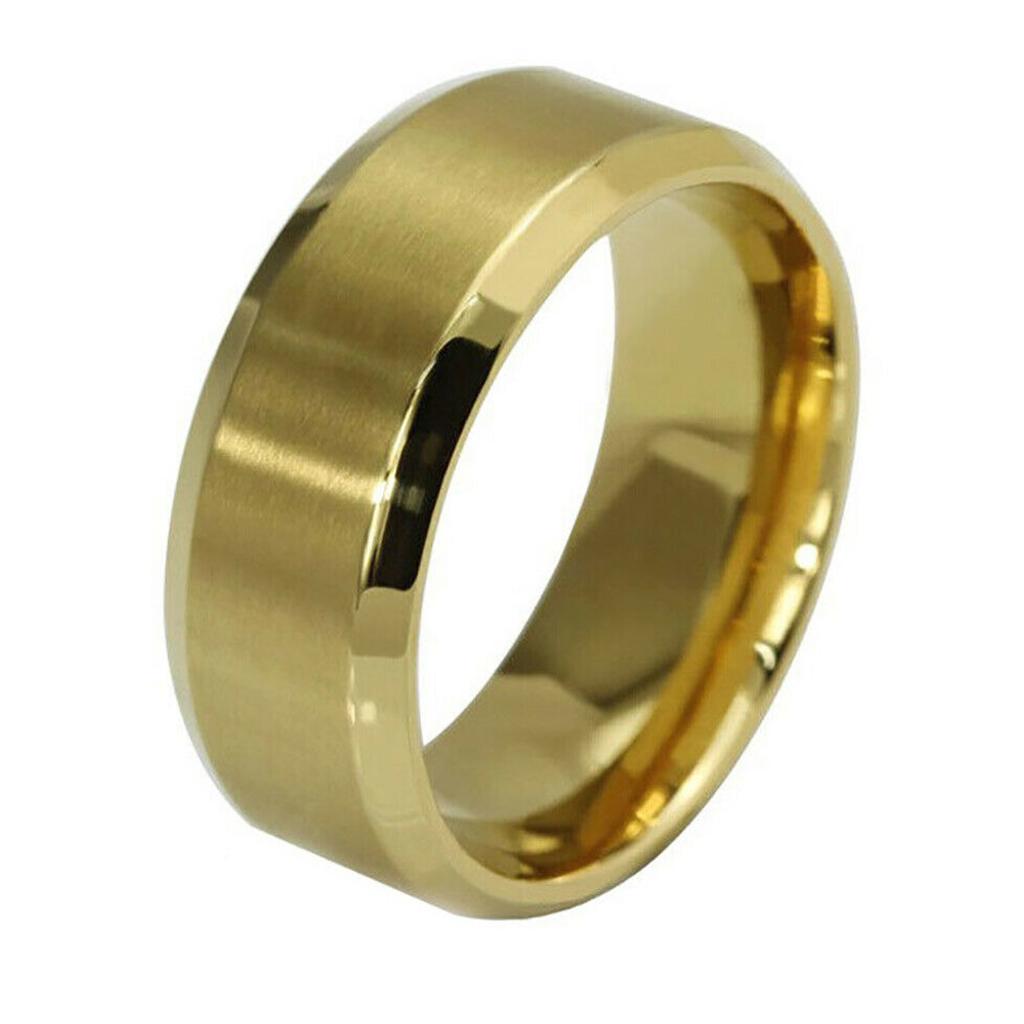 Кільце з нержавіючої сталі, золотисте анодування, 1161КЖ
