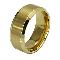 Кільце з нержавіючої сталі, золотисте анодування, 1161КЖ, фото 1