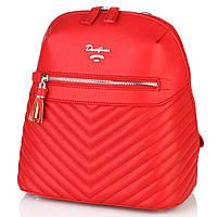 Рюкзак женский красного цвета  DAVID JONES 5423, фото 1
