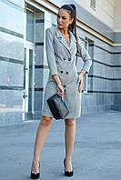 Светло-серое платье 1194.3632 ТМ Seventeen 44-50 размер